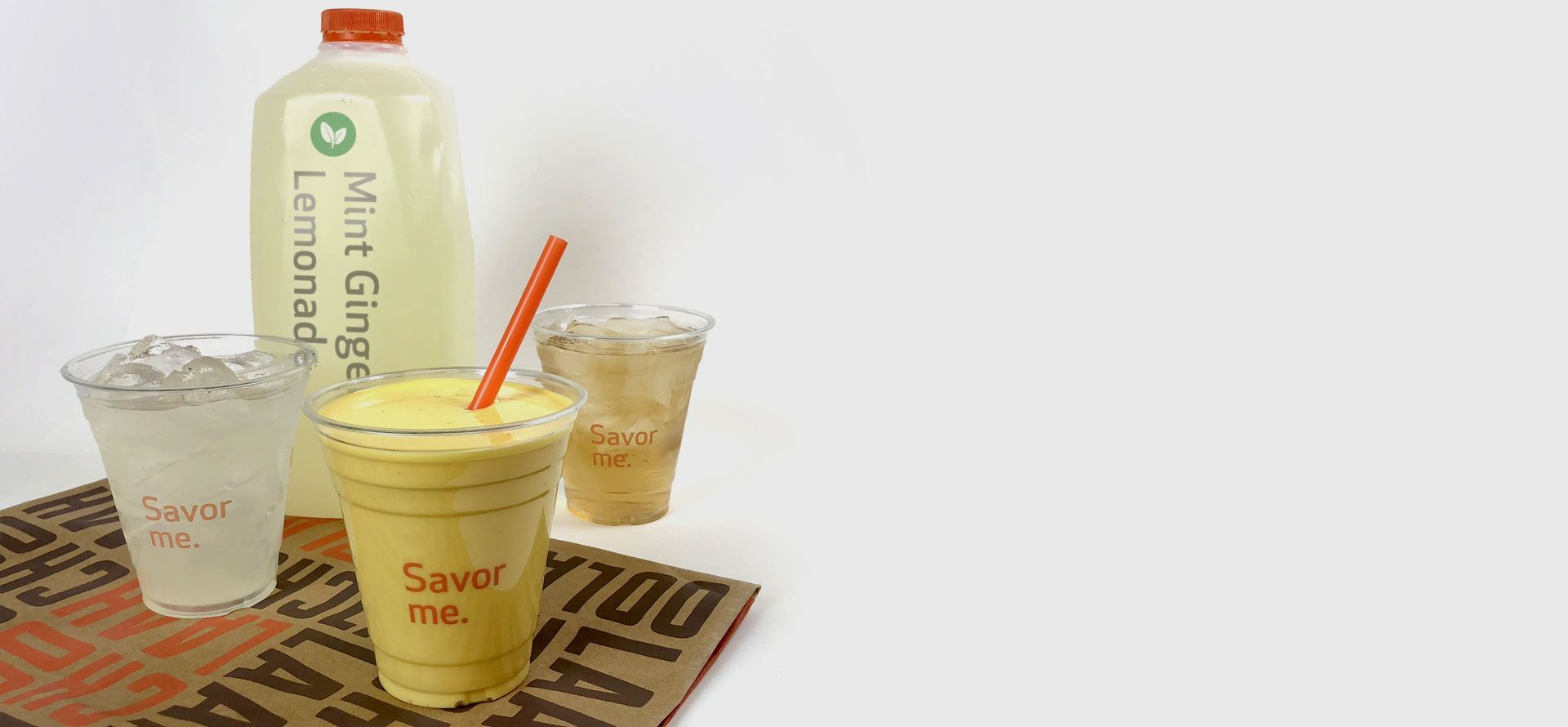 catering mango lassi and mint finger lemonade half gallon