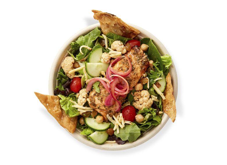 choolaah salad with salmon