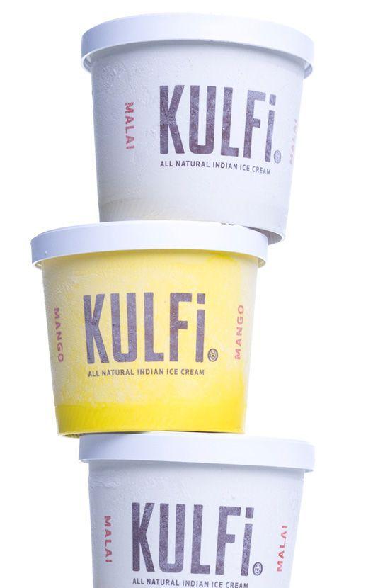 a stack of mango and malai kulfi