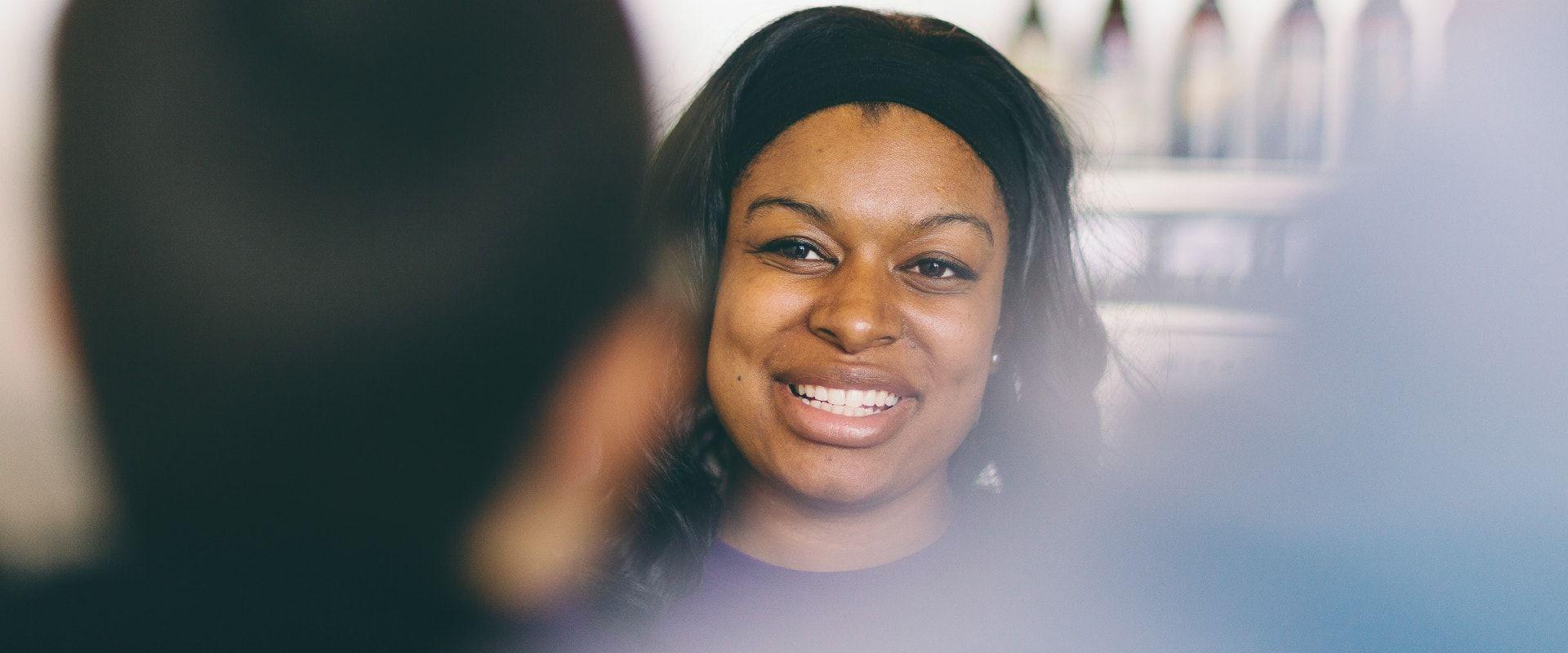 team member smiling