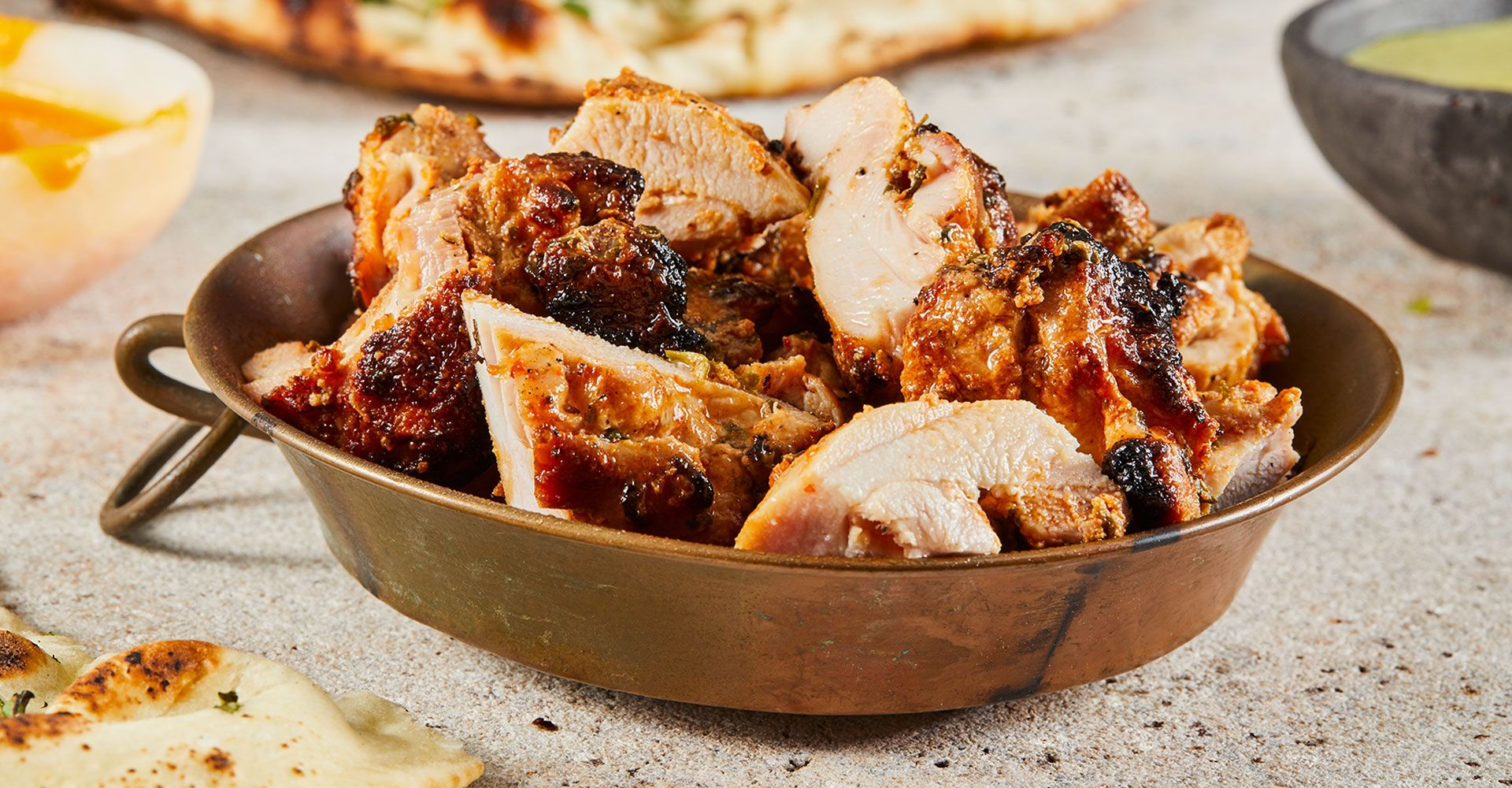 tandoori cooked chicken in a bowl